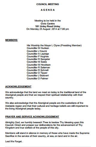 Download the Council Agenda Here
