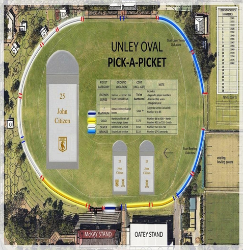 Unley Oval with areas of picket fence for sale