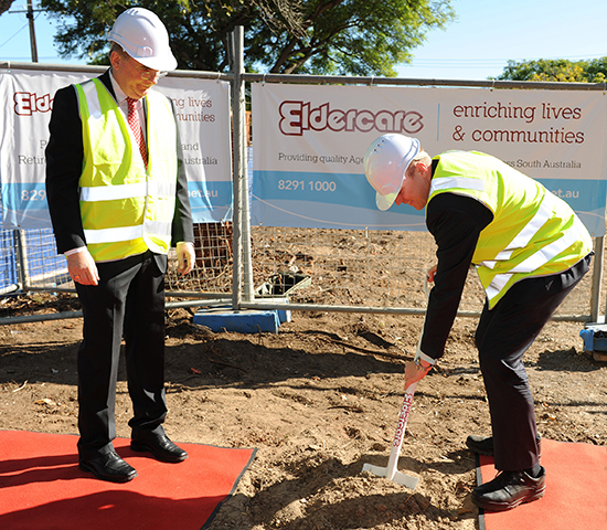 turning of the Sod for Eldercare on King William Road